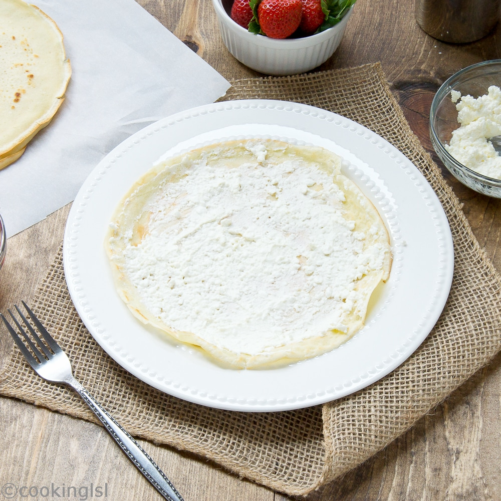 Cream, and, Cottage,Cheese, Filled , Crepes