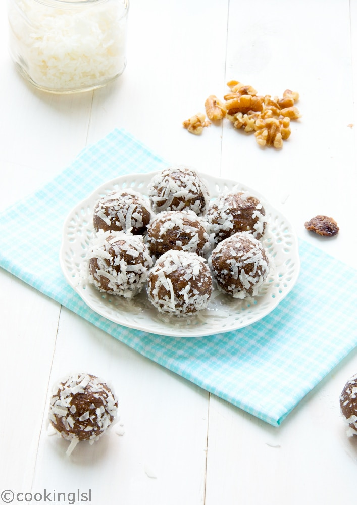 Date Cherry Protein Energy Balls
