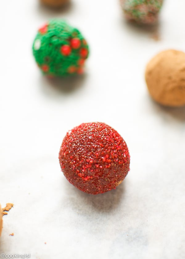 Raw Date And Orange Holiday Truffles