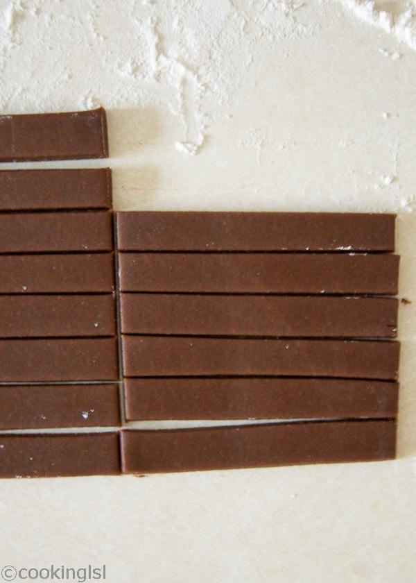 Chocolate Shortbread Cookie Sticks