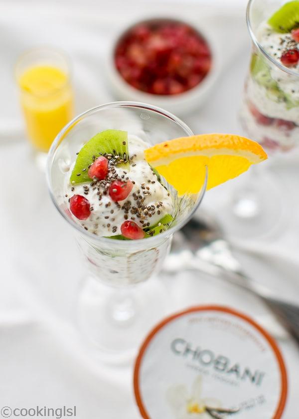 Winter Chia Yogurt Parfait