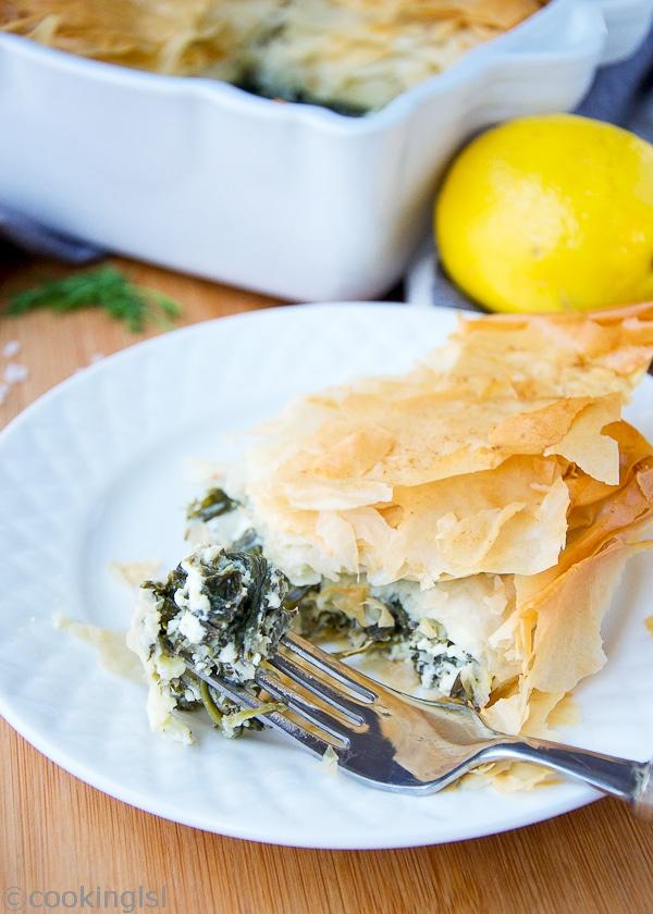 phyllo-filo-spinach-feta-Greek-pie-spanakopita-dill-parsley-banitsa