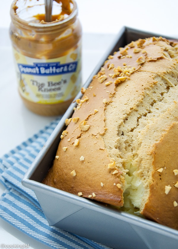 Peanut Butter Bread With Cheesecake Layer