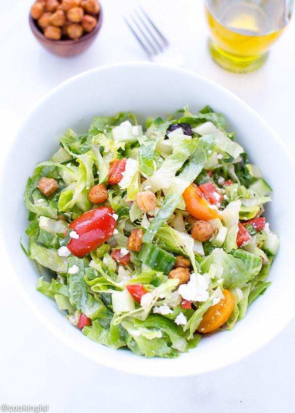 Vegetarian-Mediterranean-Salad-Spicy-Roasted-Chickpeas-Recipe