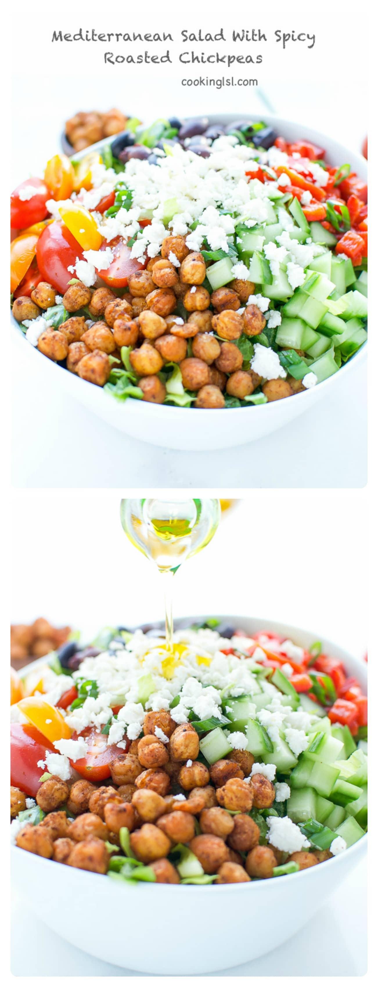 Mediterranean-salad-spicy-roasted-chickpeas