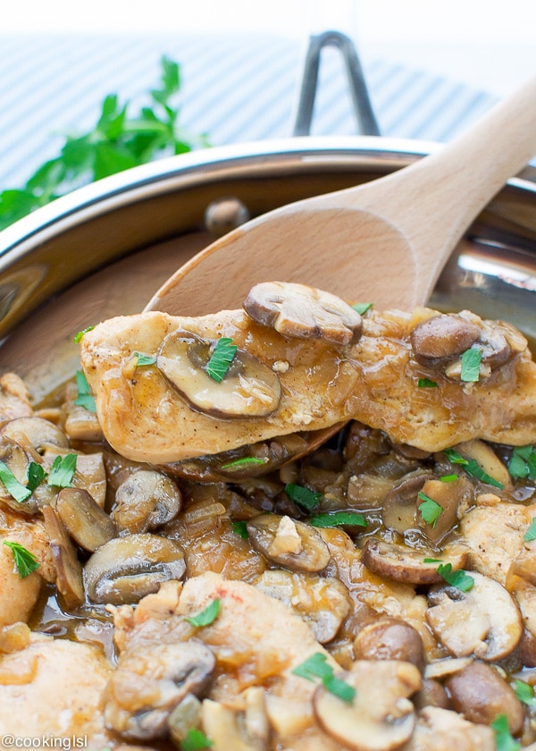 Mushroom-Chicken-With-Brandy-Sauce-Recipe