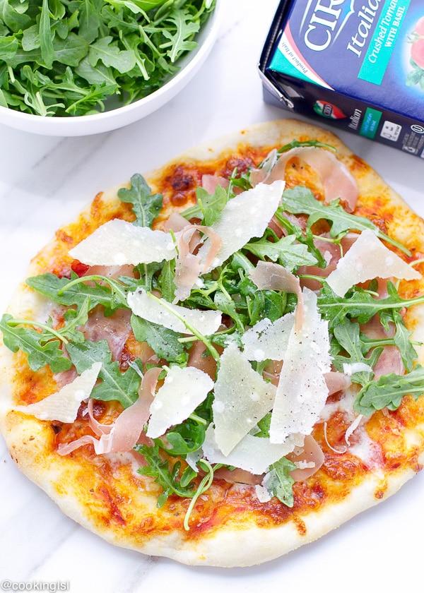 Prosciutto-And-Arugula-Pizza-With-Colavita-Italian-Summer-Grilling