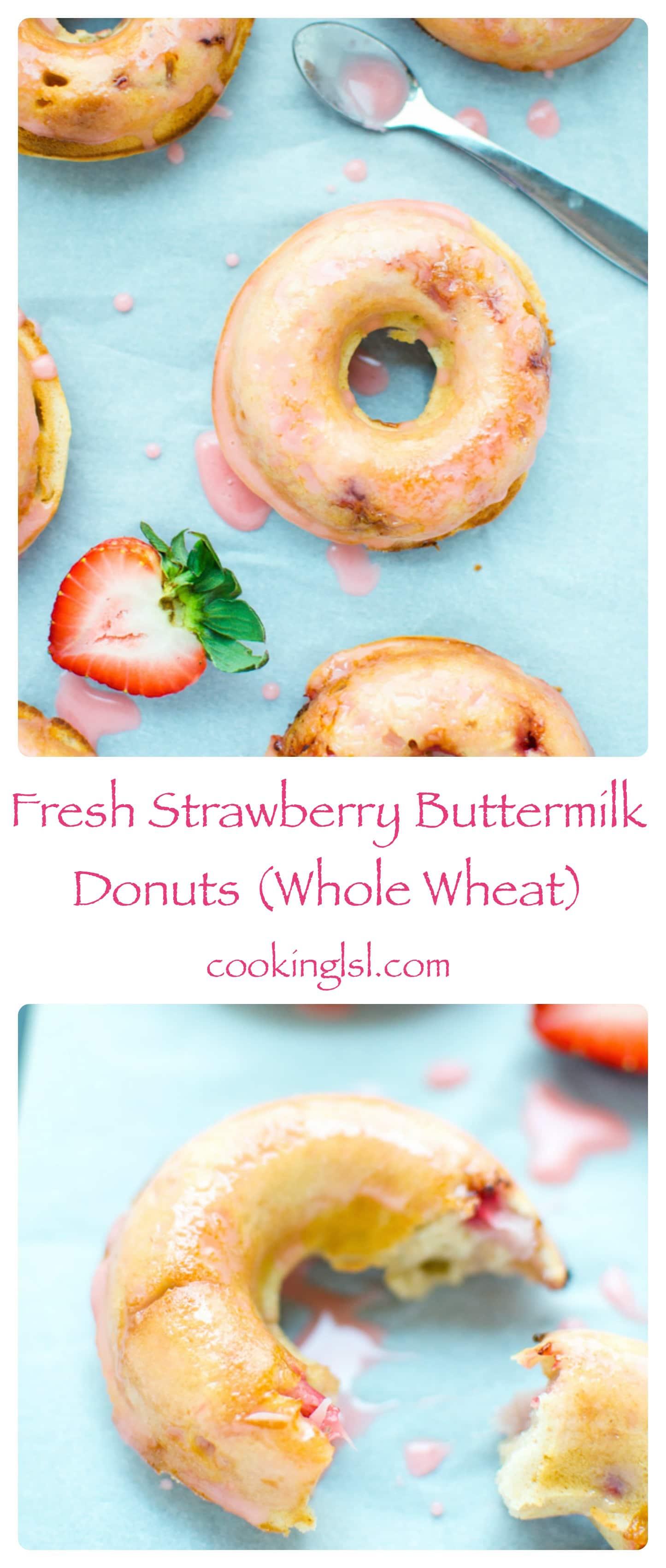 Strawberry-Buttermilk-Donuts