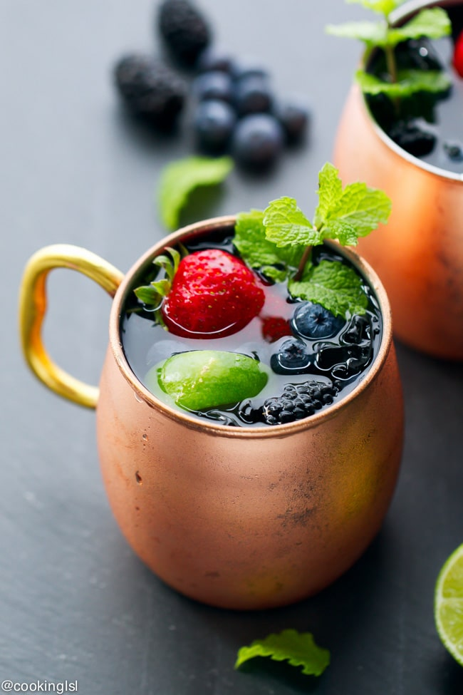 ... , this berry Moscow Mule is a great twist on a classic cocktail