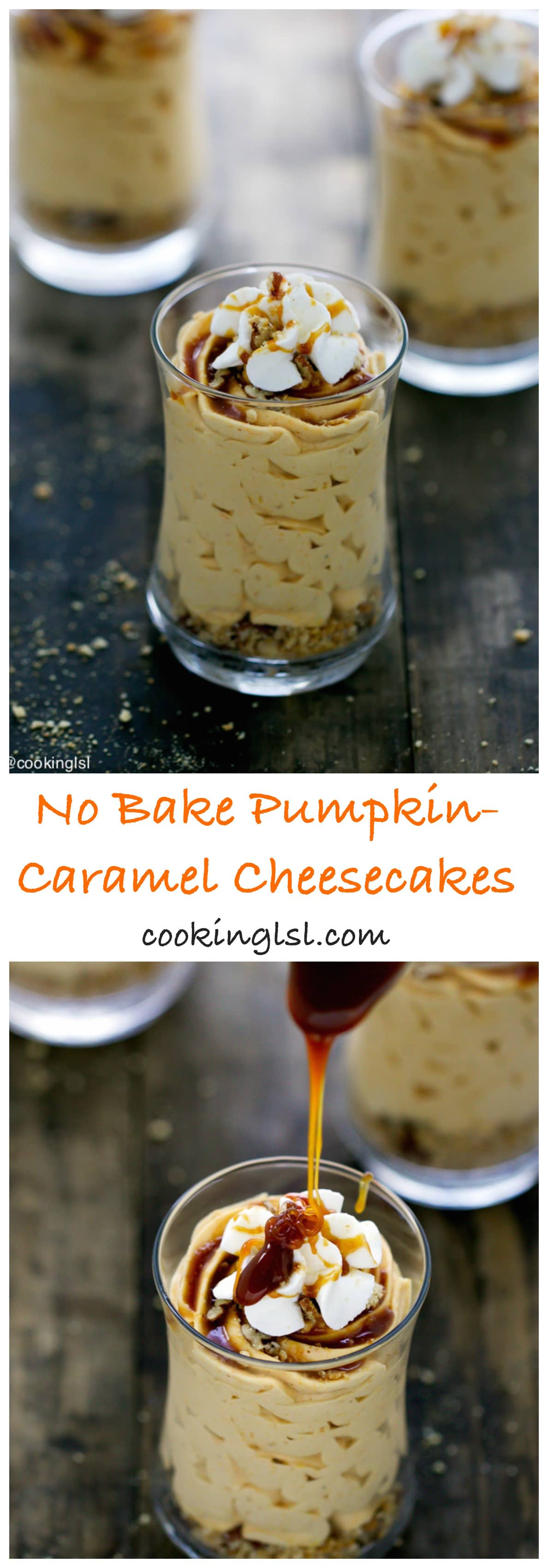 no-bake-cheesecake-cups-caremel-pumpkin