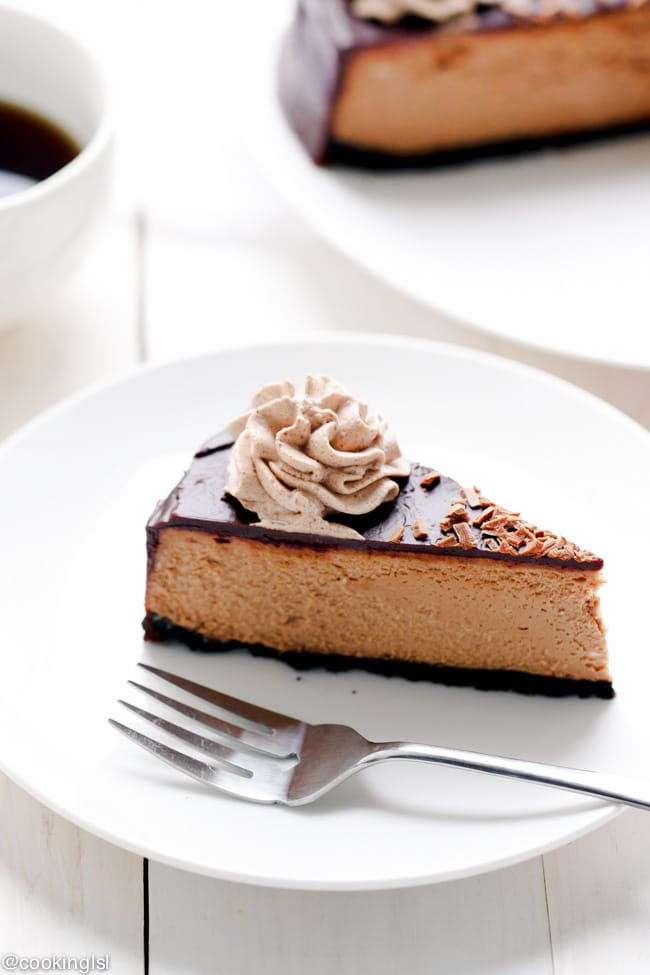 Triple Chocolate Cheesecake Recipe – Oreo cookie crust, light ...