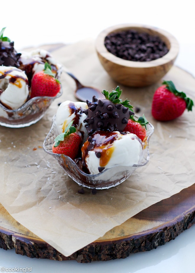 Vegan Chocolate Syrup And Dairy Free Sundaes made with So Delicious ...