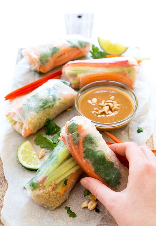 Shrimp-Quinoa-Vegetable-Spring-Rolls-with-a-peanut-dipping-sauce1