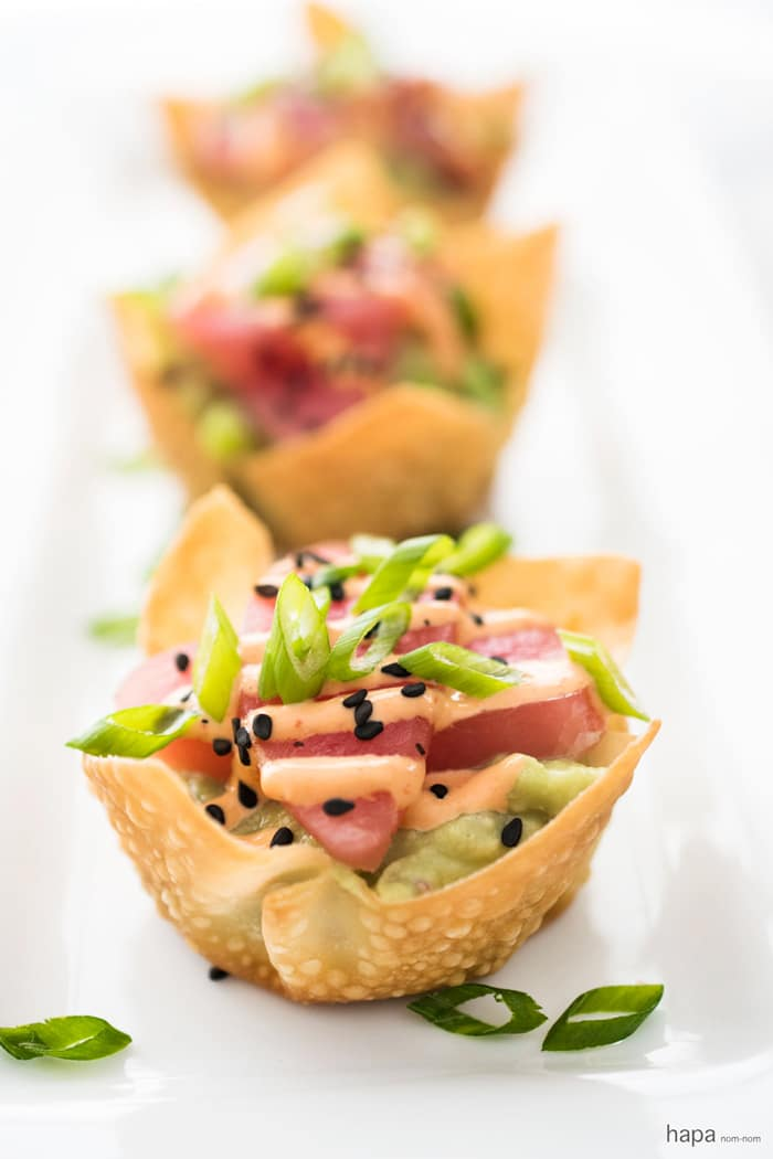 Tuna-Tartare-with-Avocado-and-Sriracha-Aioli-in-a-Baked-Wonton-Cup-3c