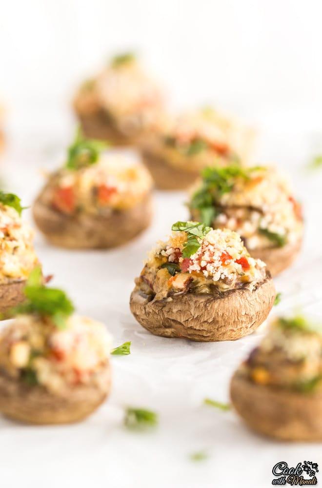 Vegetarian-Stuffed-Mushrooms