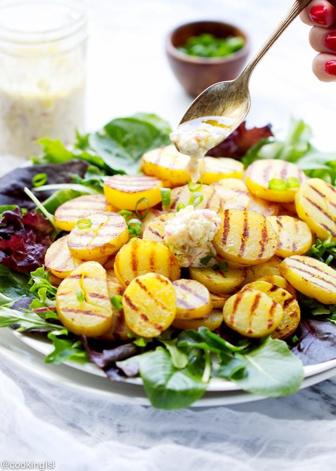 Grilled Potato Salad With Feta Vinaigrette Recipe – very easy to ...