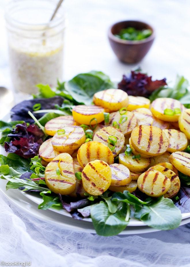 Grilled Potato Salad With Feta Vinaigrette Recipe