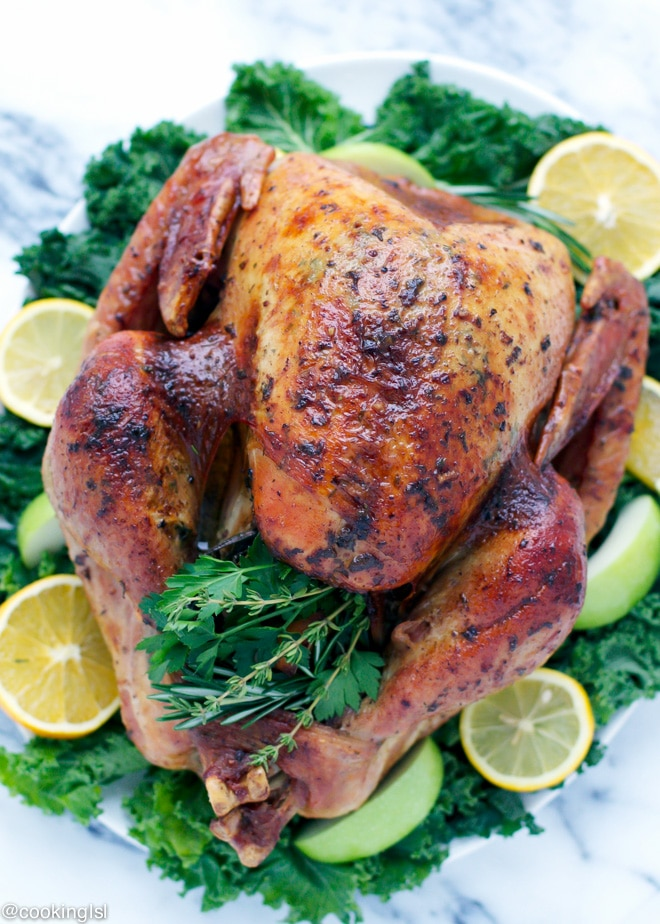 Easy Dry Brined Herb Butter Roasted Turkey