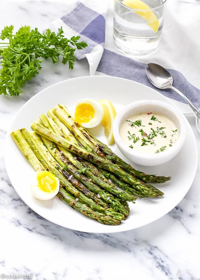 Grilled Asparagus With Dijon Mustard Vinaigrette – easy springtime ...