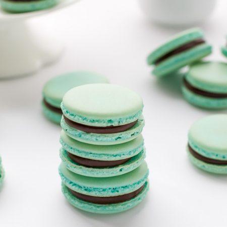baby-blue-french-macarons-rich-chocolate-ganache-recipe
