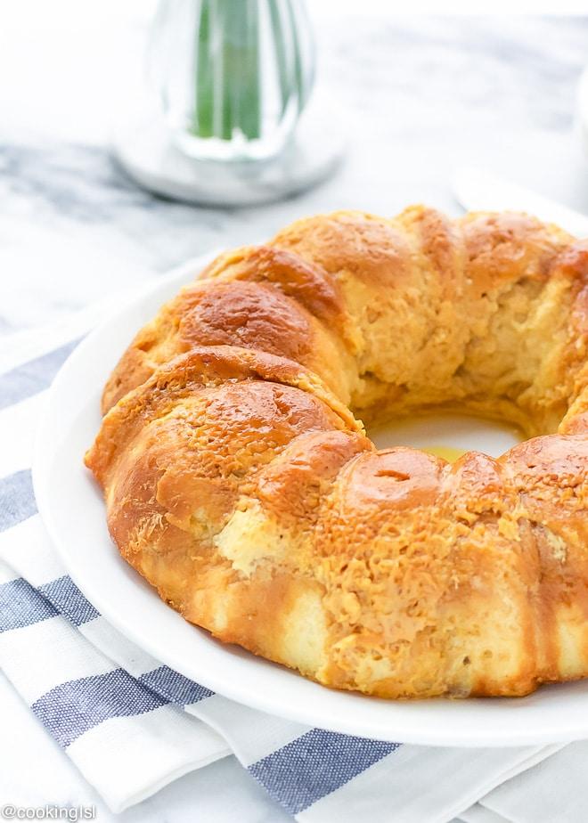 Croissant Creme Caramel Pudding In A Bundt Pan