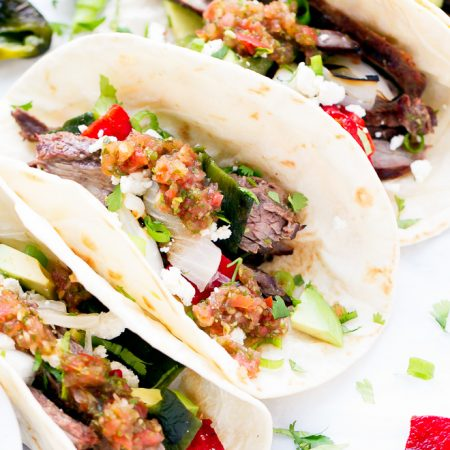 Skirt-Steak-And-Poblano-Peppers-Tacos-Recipe