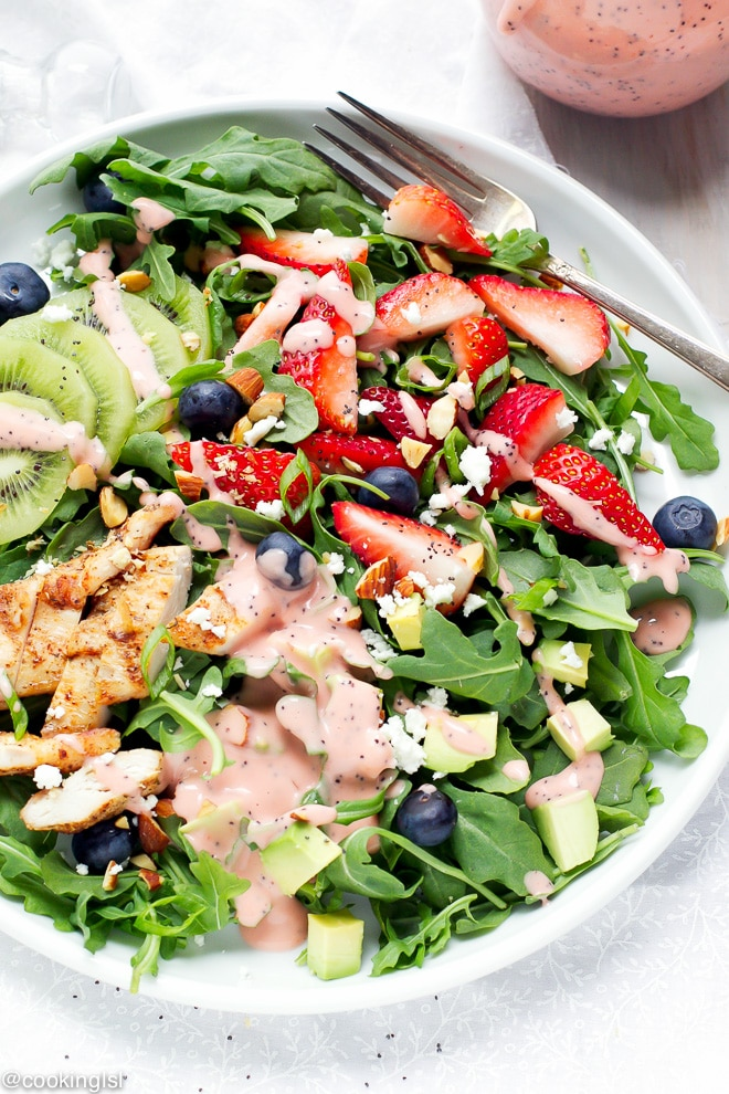 Strawberry Arugula Salad With Poppyseed Dressing Recipe -