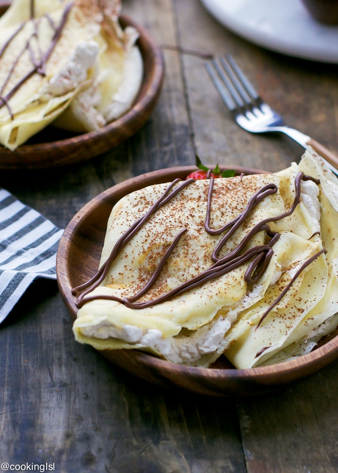 Crepes With Vanilla Bean Whipped Cream – one of my favorite weekend ...