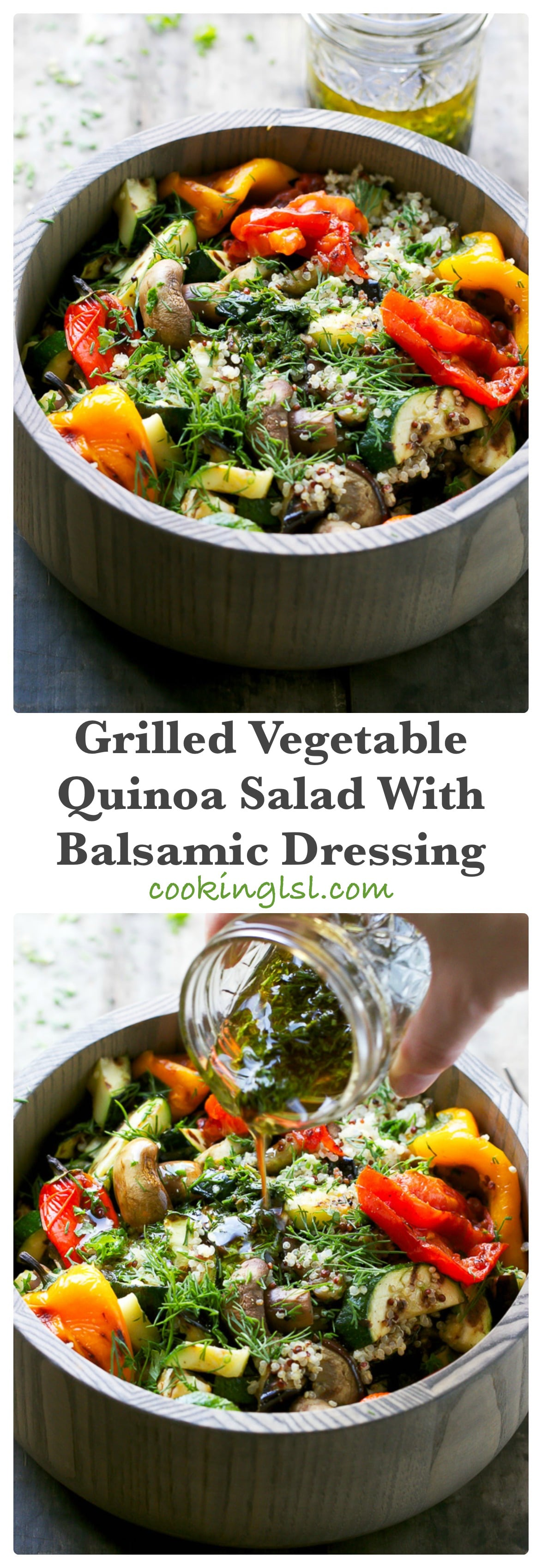 Grilled Vegetable Quinoa Salad With Balsamic Dressing -