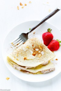 Crepes With Whipped Chocolate Coconut Cream