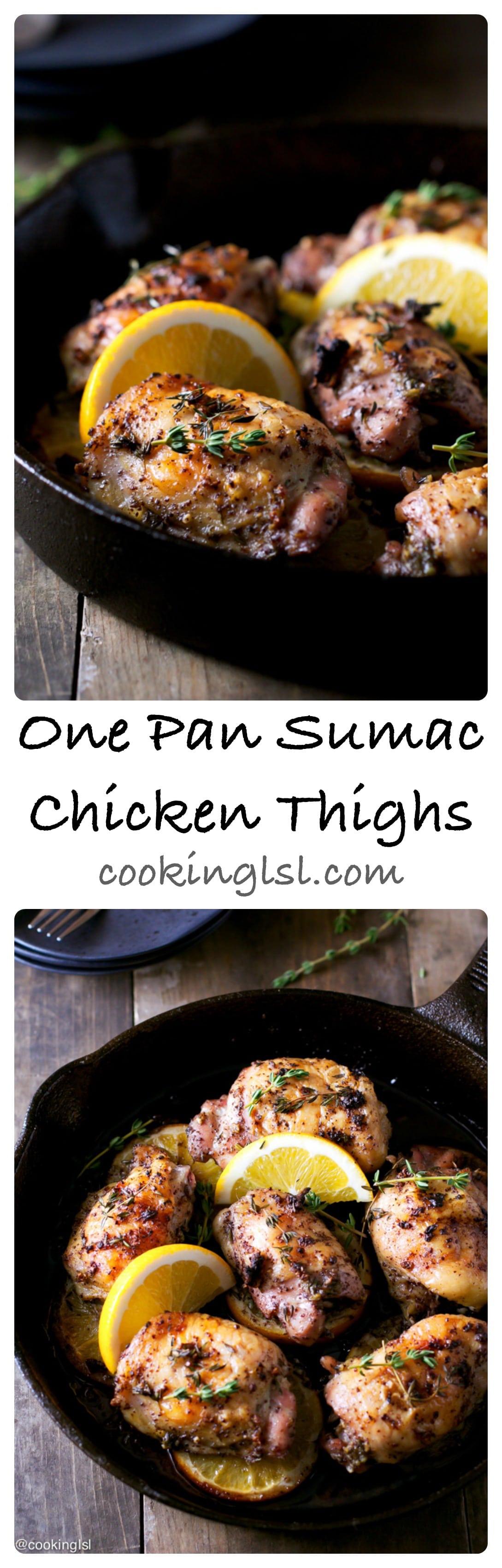 One Pan Sumac Chicken Thighs
